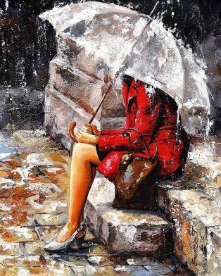 Resultado de imagen de MUJER bajo la lluvia
